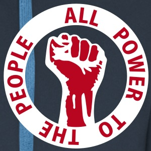2 colors - all power to the people - against capitalism working class war revolution Jackor & västar - Premium-Luvjacka herr