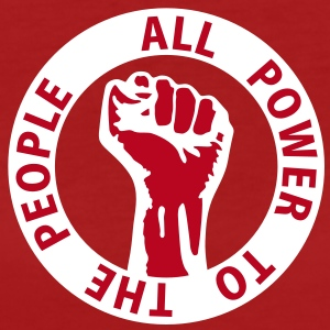 2 colors - all power to the people - against capitalism working class war revolution T-shirts - Ekologisk T-shirt dam