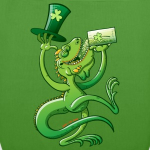 Saint Patrick's Day Iguana Bags  - EarthPositive Tote Bag