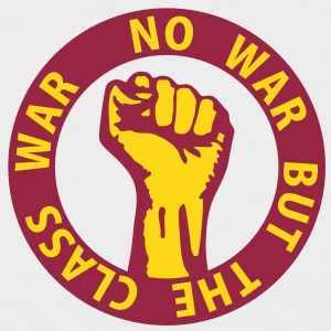 2 colors - no war but the class war - against capitalism working class war revolution T-shirts - Kortärmad basebolltröja herr