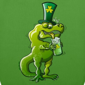 Saint Patrick's Day Tyrannosaurus Rex Bags  - EarthPositive Tote Bag