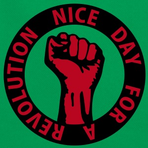 2 colors - nice day for a revolution - against capitalism working class war revolution Taschen - Retro Tasche