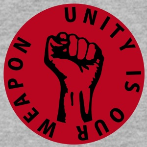 2 colors - unity is our weapon - against capitalism working class war revolution Tröjor - Herrtröja