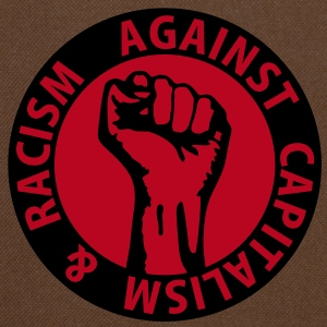 2 colors - against capitalism & racism - against capitalism working class war revolution Bags  - Shoulder Bag