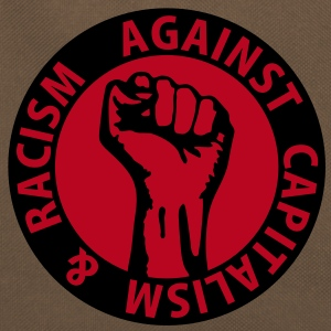 2 colors - against capitalism & racism - against capitalism working class war revolution Bags  - Retro Bag