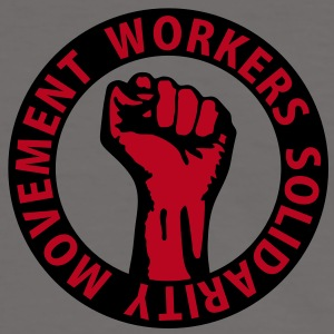 2 colors - Workers Solidarity Movement - Working Class Unity Against Capitalism T-Shirts - Männer Kontrast-T-Shirt