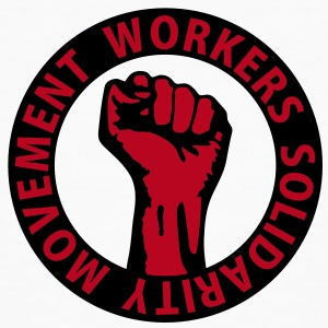 2 colors - Workers Solidarity Movement - Working Class Unity Against Capitalism T-Shirts - Männer Bio-T-Shirt