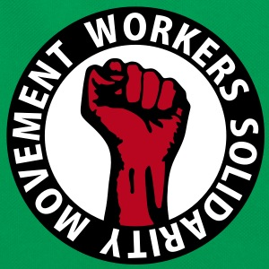 3 colors - Workers Solidarity Movement - Working Class Unity Against Capitalism Tassen - Retro-tas
