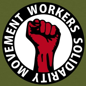 3 colors - Workers Solidarity Movement - Working Class Unity Against Capitalism T-shirt - T-shirt ecologica da uomo