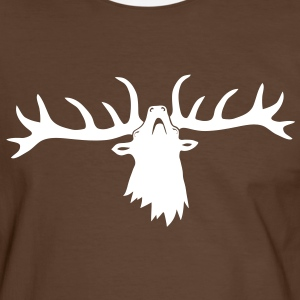 wild stag deer moose elk antler antlers horn horns cervine hart bachelor party night hunter hunting T-Shirts - Men's Ringer Shirt