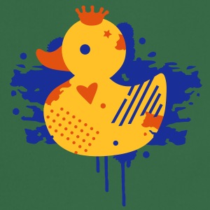 A duck with a crown as a graffiti  Aprons - Cooking Apron