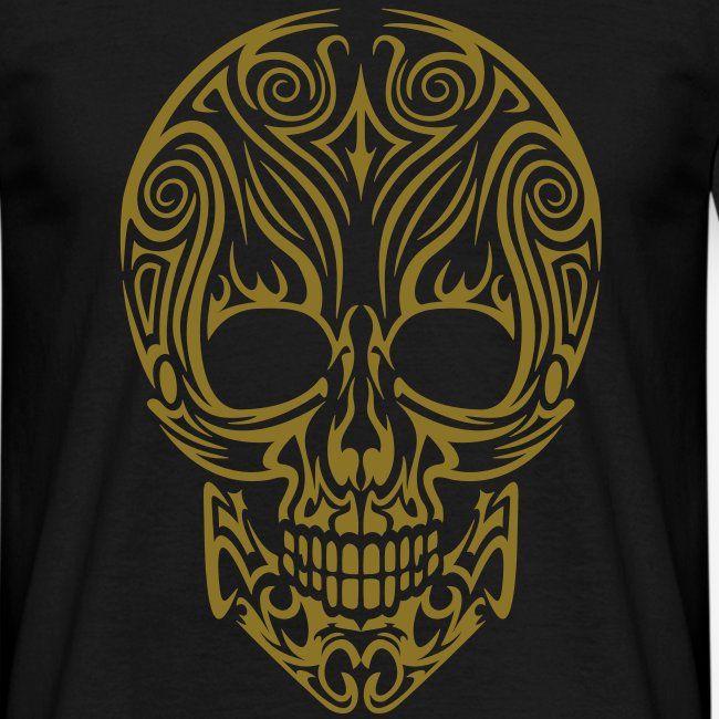 "Men's ""Tribal Skull"" GOLD"