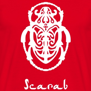 Men's Scarab Beetle T-Shirt w/text - Men's T-Shirt