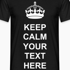 Keep calm black personalise t shirt