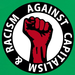 3 colors - against capitalism & racism - against capitalism working class war revolution Camisetas - Camiseta contraste mujer