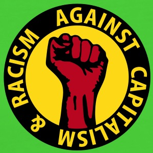 3 colors - against capitalism & racism - against capitalism working class war revolution Camisetas - Camiseta ecológica mujer