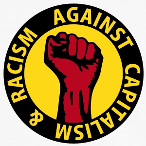 3 colors - against capitalism & racism - against capitalism working class war revolution T-Shirts - Men's Ringer Shirt