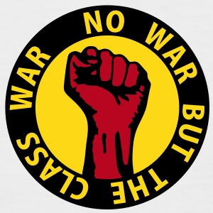 3 colors - no war but the class war - against capitalism working class war revolution T-Shirts - Männer Baseball-T-Shirt