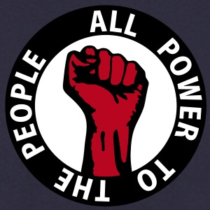 3 colors - all power to the people - against capitalism working class war revolution Sudadera - Sudadera hombre