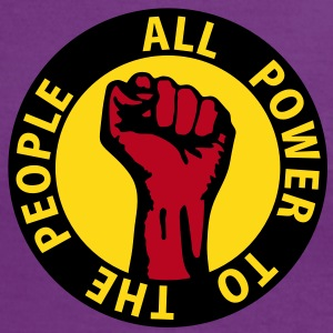 3 colors - all power to the people - against capitalism working class war revolution T-shirts - Vrouwen contrastshirt