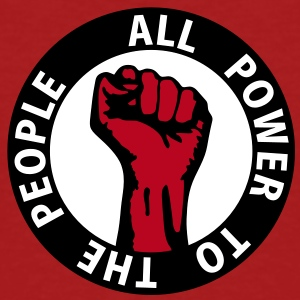 3 colors - all power to the people - against capitalism working class war revolution T-skjorter - Økologisk T-skjorte for menn