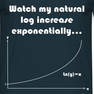 Maths Joke Expontential Log T-Shirts - Men's T-Shirt