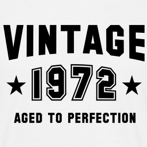 VINTAGE 1972 T-Shirt - Aged To Perfection BW - Miesten t-paita