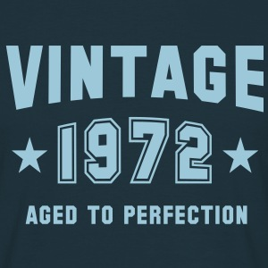 VINTAGE 1972 T-Shirt - Aged To Perfection SN - Herre-T-shirt