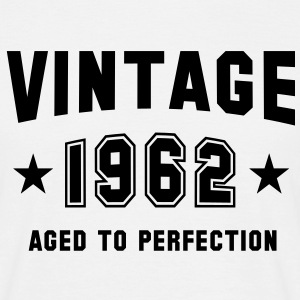 VINTAGE 1962 T-Shirt - Aged To Perfection BW - Mannen T-shirt