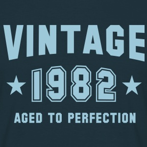 VINTAGE 1982 T-Shirt - Aged To Perfection SN - Mannen T-shirt