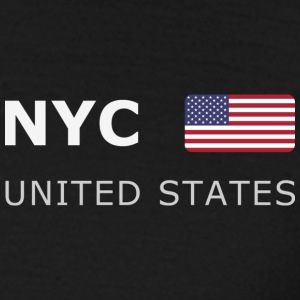 Classic T-Shirt NYC UNITED STATES white-lettered - Herre-T-shirt