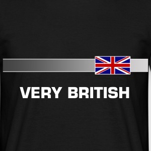 Banner & Flagge GROSSBRITANIEN + Dein Text/Name (VERY BRITISH) | unisex shirt - Männer T-Shirt