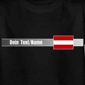 Banner & Flagge ÖSTERREICH + Dein Text/Name | Teenager Shirt - Teenager T-Shirt