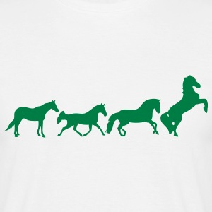 animation cheval chevaux horse2 Tee shirts - T-shirt Homme