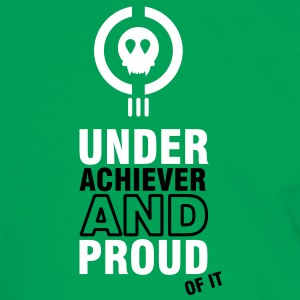 underachiever and proud of it (2c) T-shirts - Mannen contrastshirt