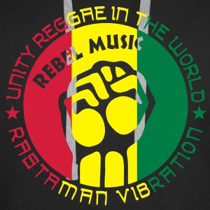 unity reggae in the world Felpe - Felpa con cappuccio premium da uomo