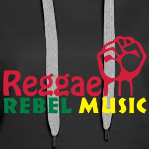 reggae rebel music Hoodies & Sweatshirts - Women's Premium Hoodie