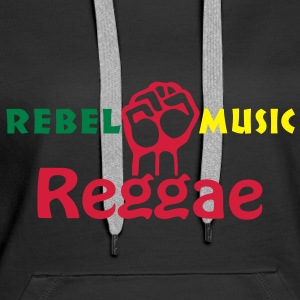 rebel music reggae Hoodies & Sweatshirts - Women's Premium Hoodie