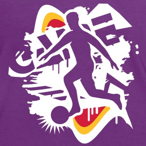 soccer player in  graffiti style T-Shirts - Women's Ringer T-Shirt