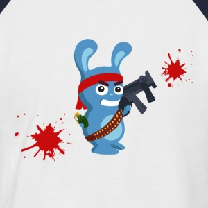 Lapin Mitraillette T-Shirts - Men's Baseball T-Shirt