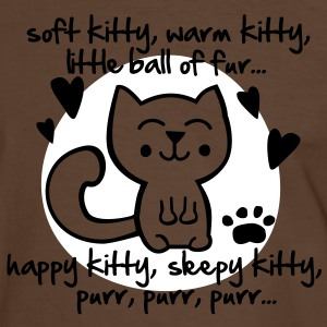 soft kitty, warm kitty, little ball of fur... T-Shirts - Männer Kontrast-T-Shirt