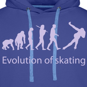 evolution_of_skating_text Sweaters - Mannen Premium hoodie
