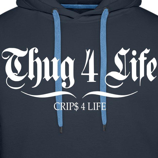 Sweat à capuche homme thug 4 life crips 4 life