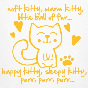 soft kitty, warm kitty, little ball of fur... T-Shirts - Männer Bio-T-Shirt