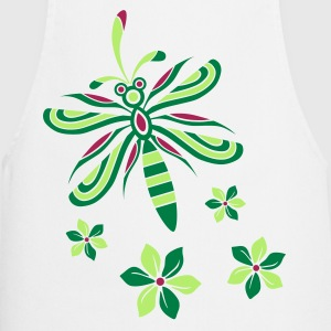 Dragonfly with Flowers Cooking Apron - Cooking Apron