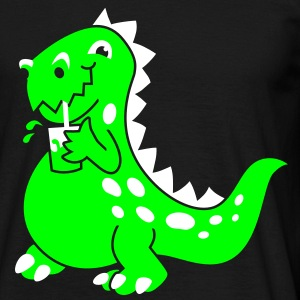Party Dino dark T-Shirts - Männer T-Shirt