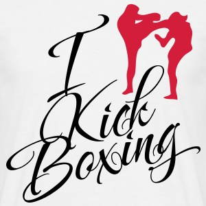 I Love Kickboxing - Männer T-Shirt