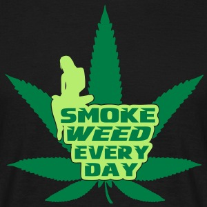 smoke weed every day T-shirts - T-shirt herr