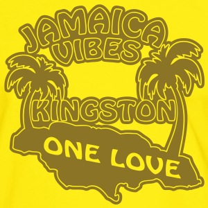 jamaica vibes kingston T-shirts - Herre kontrast-T-shirt