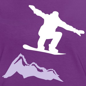 snowboarder jump mountain T-Shirts - Women's Ringer T-Shirt